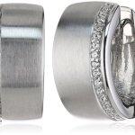 Viventy Damen-Creolen 925 Sterling Silber mit 32 Zirkonia in weiss 763254 B009S3V60S