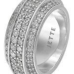 JETTE Silver Damen-Ring 925er Silber 72 Zirkonia 72 Kristall (silber) B00K2TMH0U