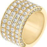 JETTE Magic Passion Damen-Ring Pure Glam Metall 82 Kristall (gold) B00NBDG3C2