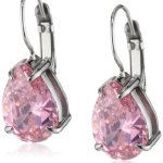 Dyrberg/Kern Damen-Ohrhänger Edelstahl Kristall pink 335330 B00HEYA9GK