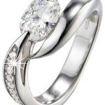 Pierre Cardin Damen-Ring 925 Sterling Silber rhodiniert Kristall Zirkonia Etoile filante weiß Gr.50 (15.9) PCRG90307A160 B00GXV2V2U