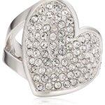 Guess Damen-Ring Metall Zirkonia weiß UBR11401 B00L20JCV0