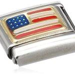 Nomination Composable Classic AMERIKA Edelstahl, Email und 18K-Gold (USA) 030235 B003HEZI8U