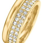 JETTE Magic Passion Damen-Ring Jette Silber Metall 70 Kristall (gold) B00K2TZWQQ