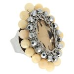 Sweet Deluxe Damen-Ring Messing sweet deluxe Damen Ring Charlotte 1 silber/peach 02746 Gr. 2746 B00EDL3GKS