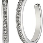 Dyrberg/Kern Damen-Creolen Versilbertes Metall Kristall Glaskristall 336159 B00LFIKCXG