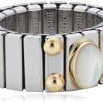 Nomination Damen-Ring Mittel Mit 1 in Perlmutt Weiß Ring größe variabel 040120/012 B002TN8FNU
