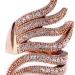 Pilgrim Jewelry Damen-Ring aus der Serie Ringe roségold beschichtet weiß 3.1 cm verstellbar Gr. 51-59 271314024 B00B5Y8IS6