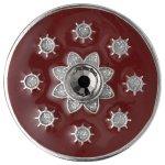 Pilgrim Jewelry Damen-Anhänger Messing Pilgrim Damen-Anhänger aus der Serie Coin versilbert,rot 3.0 cm 441336302 B00ESBM02I