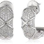 Joop Damen-Creolen 925 Sterling Silber Zirkonia Mosaics weiß JPER90306A000 B00IYSAFXC