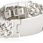 Zeeme Stainless Steel Unisex-Armband 20cm Breite 23mm 159060129 B005GTH0SK