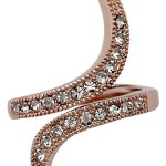 Pilgrim Jewelry Damen-Ring aus der Serie Classic roségold beschichtet grau 3 cm verstellbar Gr. 51-59 601314014 B00B5Y8T8U