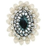 Sweet Deluxe Damen-Ring Metall rhodiniert Glas limette/Grau Gr. 2747 B00EDL3F04