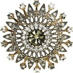 CHRIST Silver Damen-Brosche Metall 37 Kristalle 22 Kristall One Size, gold B00KJ0TJ62
