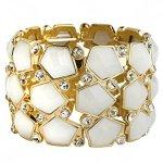 """SIX """"Exclusive"""" goldener Armreif mit weißen Steinen und Strass (382-968) B00KW522FE"""
