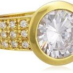 Celesta Damen-Ring 925 Sterling Silber vergoldet Zirkonia weiß W: 273270752-1 B008MUESKI