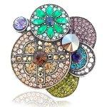 nobel schmuck Jugendstil Vintage Brosche Multicolor Kristall – Farbe Multicolor – in Etui B007RL23P0