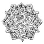 Pilgrim Damen-Anhänger charming versilbert kristall 42114-6018 B0060MSPUO