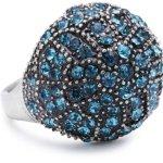 Pilgrim Jewelry Damen-Ring aus der Serie Desert queen versilbert blau verstellbar 2.0 cm 141236204 B008RTUDX0