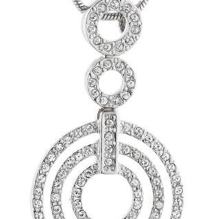 Jean Pierre Damen Halskette Swarovski-Kristall weiß 4606