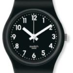 Swatch Damen-Armbanduhr XS Lady Black Analog Quarz Kautschuk LB170 B007C1CXIC