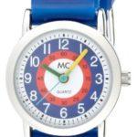 MC Timetrend Jungen-Armbanduhr Lernuhr Quarz Kautschukband mit Fußbällen 18118 B004SKU0OO