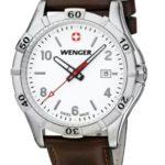Wenger Herren-Armbanduhr XL Platoon Analog Quarz Leder 01.9411.101 B00DIT2EOU