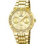 Festina Damen-Armbanduhr Analog Quarz Edelstahl F16701/2 B00JOFJZ8A