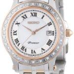 Seiko Damen-Armbanduhr XS Premier Analog Quarz Edelstahl beschichtet SXDE60P1 B00ALN4RTG