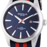 Mike Ellis New York Herren-Armbanduhr XL Analog Quarz Kunstleder 17993/3 B00H8VG5L2