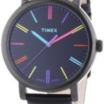 Timex Damen-Armbanduhr Timex Style Analog Leder schwarz T2N790D7 B007OZER30