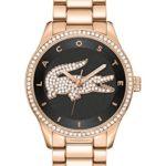 Lacoste Damen-Armbanduhr Victoria Analog Quarz (One Size, schwarz) B00T5BEJUW