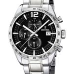 Festina Herren-Armbanduhr XL Analog Quarz Edelstahl F16759/4 B00JKEN0KE