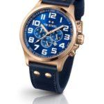 TW Steel Herren-Armbanduhr XL Pilot Chronograph Quarz Leder TW-407 B00GIKWY4G
