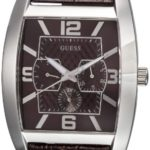 Guess Herren-Armbanduhr XL Power Broker Chronograph Quarz Leder W80009G2 B000W03OEM