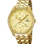Festina Damen-Armbanduhr Analog Quarz Edelstahl F16743/2 B00JW25FNO