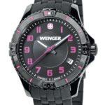 Wenger Damen-Armbanduhr Squadron Lady Analog Quarz Silikon 01.0121.105 B00BV6QYNY