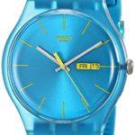 Swatch Damen-Armbanduhr Turquoise Rebel Analog Quarz Plastik SUOL700 B004OVDUKI