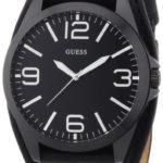 Guess Herren-Armbanduhr XL Mens Trend Analog Quarz Leder W0181G2 B00B84CJC4
