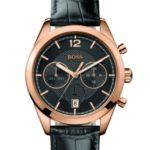 Hugo Boss Herren-Armbanduhr Chronograph Quarz Leder 1512746 B00GMG35FS