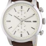Fossil Herren-Armbanduhr XL Townsman Chronograph Quarz Leder FS4865 B00FN8F13K
