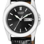 Citizen Damen-Armbanduhr XS Analog Quarz Leder EQ0560-09EE B0071EHJSY