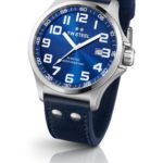 TW Steel Unisex-Armbanduhr Pilot Analog leder blau TW401 B00CJXMIFQ