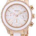 DKNY Damen-Armbanduhr Chronograph Quarz verschiedene Materialien NY8825 B00BDV30EI
