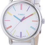 Timex Damen-Armbanduhr Timex Style Analog Leder weiß T2N791D7 B007OZER1W