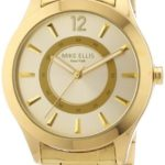 Mike Ellis New York Damen-Armbanduhr Analog Quarz Edelstahl beschichtet M2756AGM B00DIR79OW
