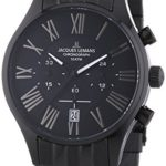 Jacques Lemans Herren-Armbanduhr XL Capri Chronograph Quarz Edelstahl beschichtet 1-1342A B00GUJRPKI