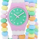 Swatch Damen-Armbanduhr XS Caramellisima Analog Quarz Plastik LP135B B00I46OWP6