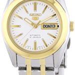 Seiko Damen-Armbanduhr XS Seiko 5 Analog Automatik Edelstahl beschichtet SYMH88K1 B0039OHB92