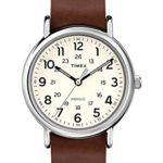 Timex Damen-Armbanduhr Analog Quarz (One Size, beige/creme) B00U1VPGUW